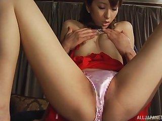 Japanese MILF Juri Kano gets her hairy pussy pounded hard