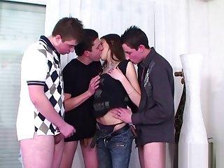 Voyeurs threesome delight