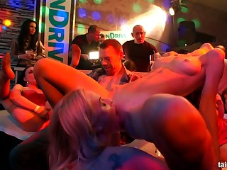 Complete whore Nathaly Cherie gets her pussy fucked and flouted at burnish apply party