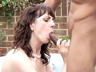 Getting pounded by a black panhandler outdoors makes Toni Lace steal