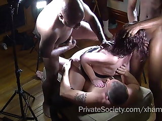 A catch Private Society Gangbang Club For Lonely Housewives