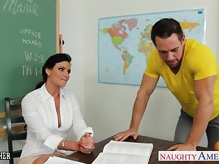 Chesty teacher Phoenix Marie take cock almost classroom