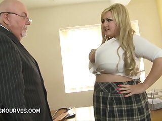 Sexual Old man gets his hands on Leah