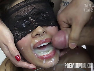 Munificence Bukkake - Victoria swallows 81 chubby mouthful cumloads