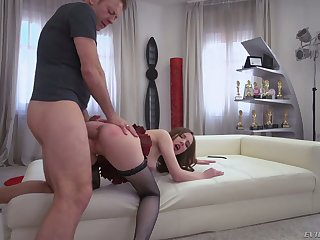 Toy addicted whore Lina Mercury takes Rocco's distinct cock procure her asshole