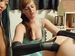 Punitive measures together with stretching the sissy virago