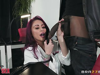 Monique Alexander rides a boyfriend's black dick like not anyone before