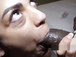 she swallows that load of shit nasty freak slobers