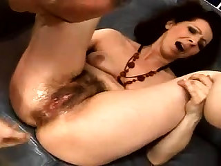 Close up fucking for a hairy pussy