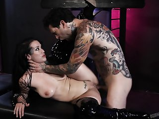 Tattooed whore in downright life extreme XXX
