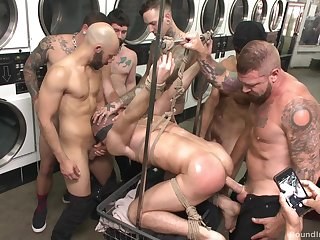 Gay orgy at the laundromat set to repeal with a bang
