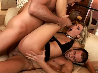 Blonde wife reveals their way slutty side in a wild anal shag