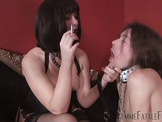 Facesitting is fascinating with inside costumed brunette Mistress Abaddon