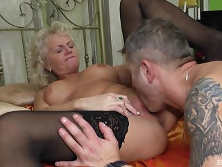 Granny knows how to have sexual intercourse even at her age