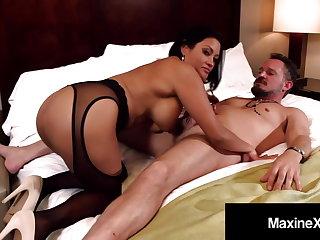 Oriental Wife Maxine X Makes Cuck Husband Watch Her Fuck Guy