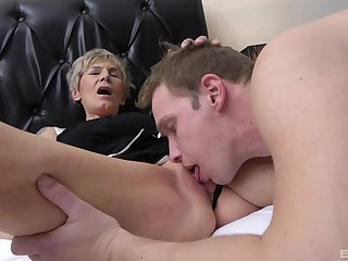 Mature enjoys over the top hammering from her nephew