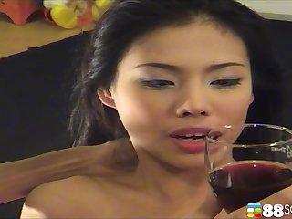 Close down amateur peel of Asian chick Maya Asawawong having dealings