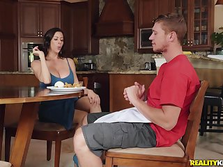 Lad fucks his step mom so good that she falls exhausted