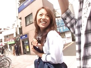Best looking Japanese babe Iori Mizuki gives head and gets drilled