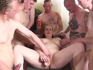 Dutch gangbang scene there chubby whore