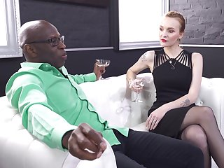 Interracial anal sex gives slender Belle Claire what she was craving