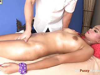 Bootylicious Thai girl massaged then fucked doggystyle