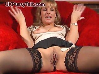 Smoking hot Danielle Mannaken loves masturbating concerning a dildo