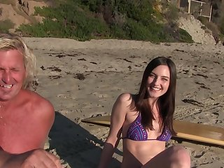 Pale amateur Pepper XO takes off her bikini to be fucked everlasting