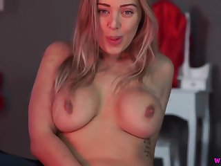 PAWG piece of baggage next door Beth masturbating in the sky webcam - Striptease