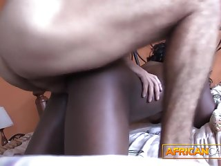 Fucking African amateur spoils in my hotel room POV