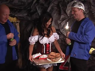 German slut gets a double dose of pleasure