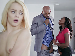 Housewife and spouse with reference to BIG Disgraceful COCK poke nubile blondie