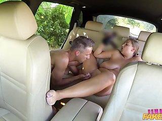 Busty Sexy Driver Milks Stud's Cock